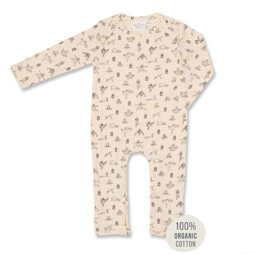 Animal Yoga Print Jumpsuit. 100% organic cotton