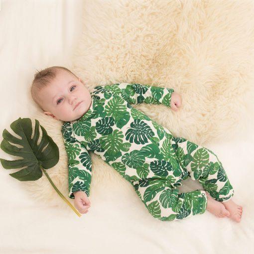 Tropical leaf print jumpsuit by Yoga Baba