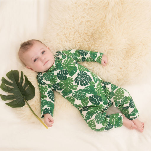 Tropical leaf print jumpsuit by Yoga Baba